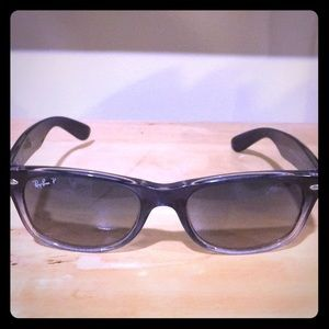 Polarized Ray-Ban gradient wayfarer sunglasses